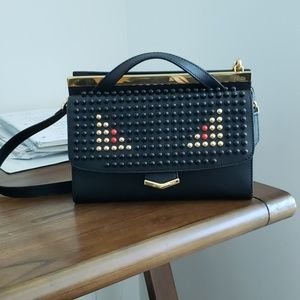 Fendi monster eye pattern crossbody/shoulder bag